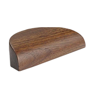 Archive Wooden Cabinet Handle - Silk Matt Walnut Clear lacquered Finish -  64mm