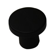 Circum Cabinet Knob - 33mm - Ash Stained & Lacquered Black Finish