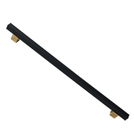Glass Door Pull Handle - Black Matt Gol