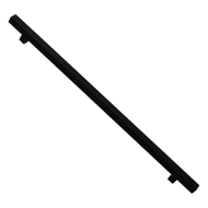 Glass Door Pull Handle - Black Matt Fin
