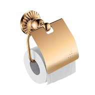Toilet Paper Holder with cover - Gold F