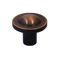 Cabinet Knob - 35mm - Antique Brass Fin