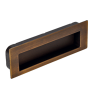 Flush Cabinet Handle - 112mm - Black Br
