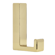 Decorative Hook in Bright Brass Finish