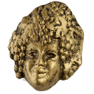 Venice Grapevine Mask Cabinet Knob in Antique Brass Finish from Siro