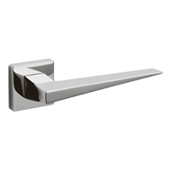 DENVER Door Lever handle on rose - Bras