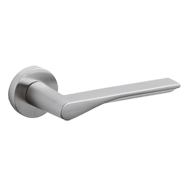 FIN Door Lever handle on rose - Brass -