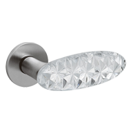 CRYSTAL DIAMOND Door Handle - Brass - S