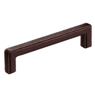 Cabinet Leather Handle - Brown Leather - 137mm
