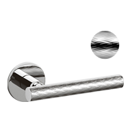 ATENA PANIER Door Lever handle on rose - Brass - Bright Chrome Finish