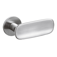 CONCA Door Lever handle on rose - Brass