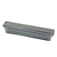 Cabinet Handle - 118mm - Bright Chrome with Crystal Clear Finish
