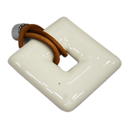 Ceramic Cabinet Handle - White Colour -