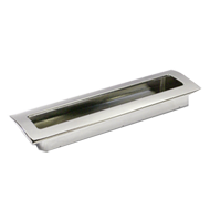 Cabinet Flush Handle - 160mm - Bright C