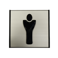 Signage Male - Aluminium Bronze Finish