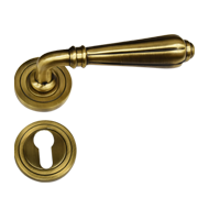 Brass Door Lever Handle - Antique Brass