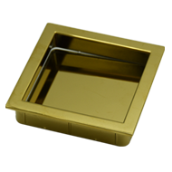 Flush Cabinet Handle - 76mm - PVD Gold Finish