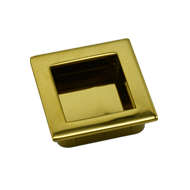 Flush Cabinet Handle - 46mm - PVD Gold Finish