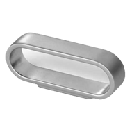 Cabinet Handle - 76mm - Aluminum Coloured Finish