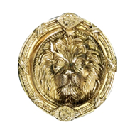 Brass Door Knocker - 7.5X7 Inch - Antiq