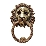 Brass Door Knocker - 12X8 Inch - Antiqu