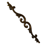 Brass Pull Handle - Antique Brass Finis