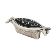 Cabinet Knob - Black Ivy Silver Finish