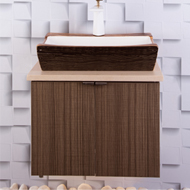 Bathroom Vanity Cabinets with Designer Laminate Shutters - 600 Width - Cabinet SS 30