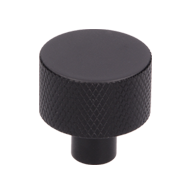 Cabinet Knob - 24mm - Matt Black Colour