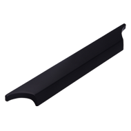 Cabinet Handle - 218mm - Matt Black Fin