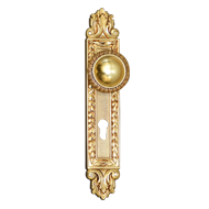 NINFA Brass Turn Knob on Plat