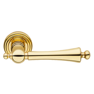 Heidi Door Lever Handle on rose - Polis