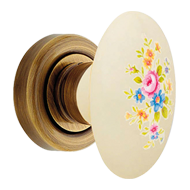 Flavia Door Knob on rose - Br