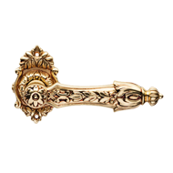 Arcadia Door Handle on rose -
