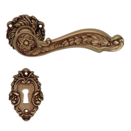 JARDIN Lever Handle on Rose  - Patine M