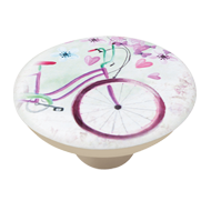 Bicycle Print Cabinet Knob for your Kid