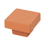 Painted Orange Square Cabinet Knob - 30