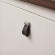 STRAP Cabinet Pull - 16mm - Leather Gre