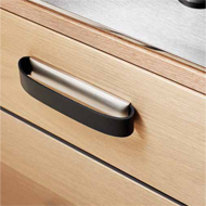 ROLLO Cabinet Pull - 96mm - Leather Gre