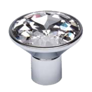 Sparkle Cabinet Knob in Crystal with Ch