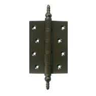 Mandir Bearing Hinges - 5x3x3 Inch - Stainless Steel Finish - Brass Material