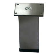 Sofa Leg Rectangular - 75mm - Stainless Steel - 3244
