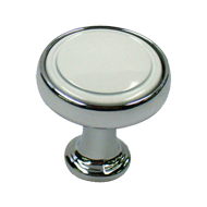 Cabinet Knob - 30mm - Bright Chrome & W