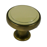 Cabinet Knob - 30mm - Antique Brass Bru
