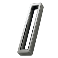 CUBO Modern Cabinet Handle - 160mm - Inox Look & Matt Black Finish