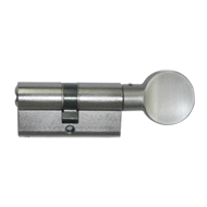 Cylinder - 70mm - Brass Nickel Finish