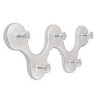 Hook Rail - White Aluminium & Bright Ch