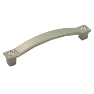 Cabinet Handle - 110mm - Aluminium Coloured with Crystal Finish