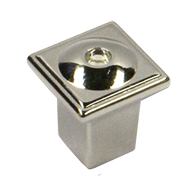 Cabinet Knob - 20mm - Bright Chrome with Crystal Finish