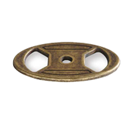 Base Plate - 50mm - Antique Brass Trumb